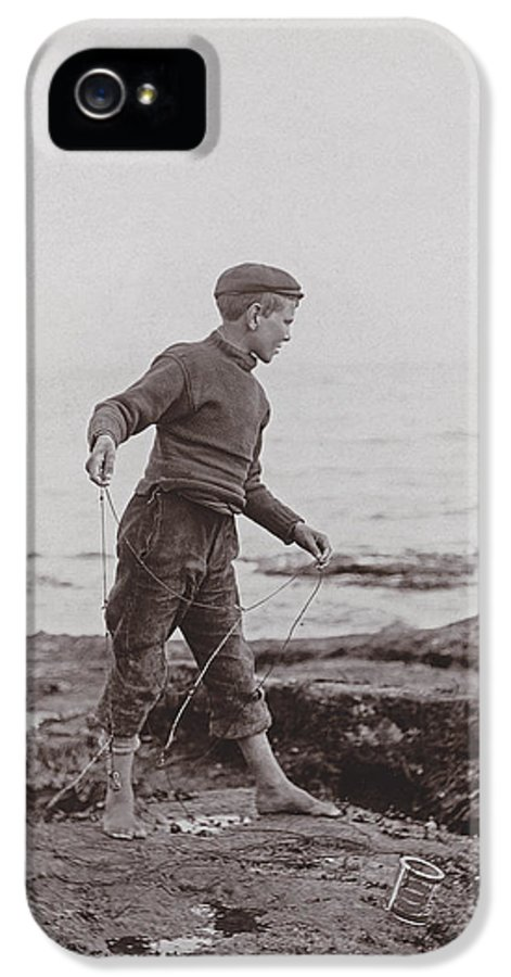 Boy IPhone 5 / 5s Case featuring the photograph A Fisher Laddie by James Patrck