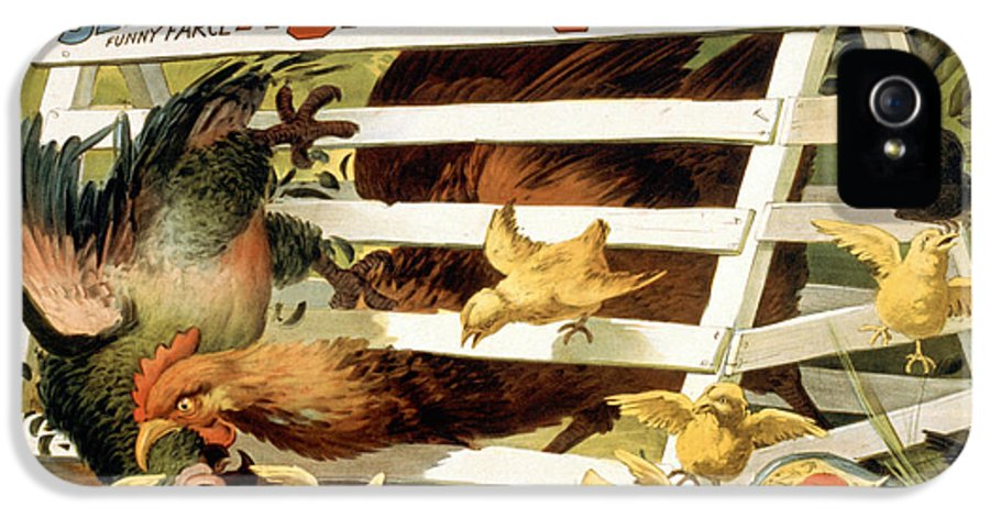 Entertainment IPhone 5 / 5s Case featuring the drawing A Spring Chicken by Aged Pixel