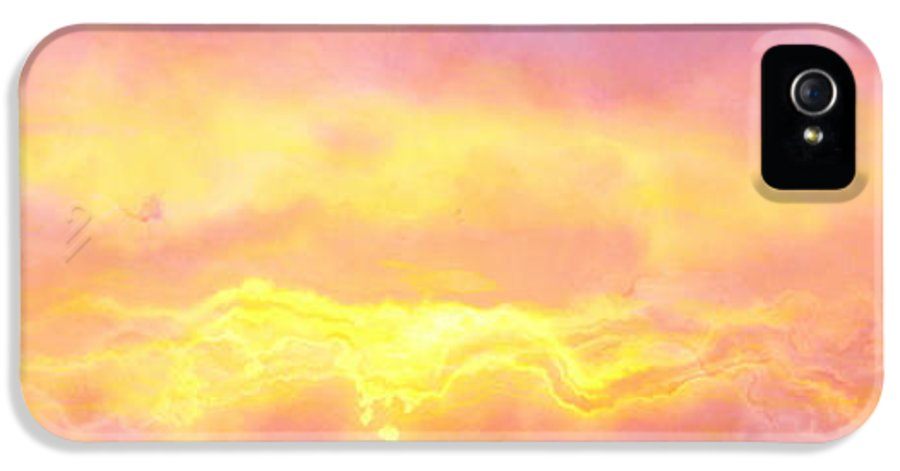 Abstract Art IPhone 5 / 5s Case featuring the digital art Above The Clouds - Abstract Art by Jaison Cianelli
