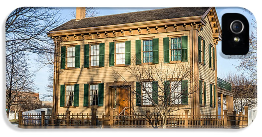 Abraham IPhone 5 / 5s Case featuring the photograph Abraham Lincoln Home In Springfield Illinois by Paul Velgos