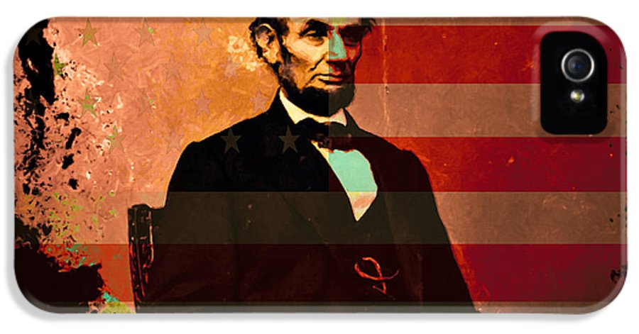 Celebrity IPhone 5 / 5s Case featuring the photograph Abraham Lincoln by Wingsdomain Art and Photography