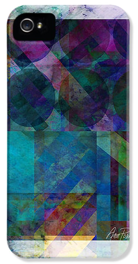 Abstract IPhone 5 / 5s Case featuring the digital art abstract - art - Stripes Five by Ann Powell