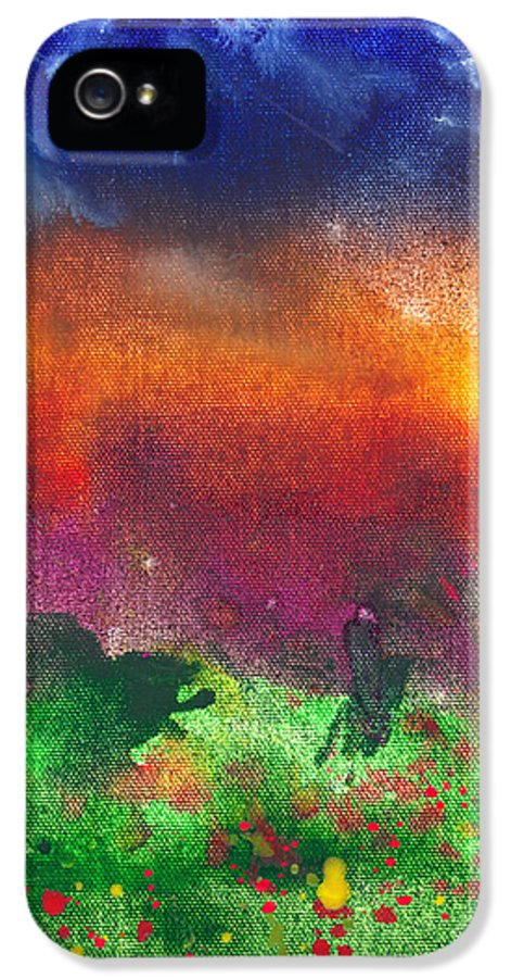 Abstract IPhone 5 / 5s Case featuring the photograph Abstract - Crayon - Utopia by Mike Savad
