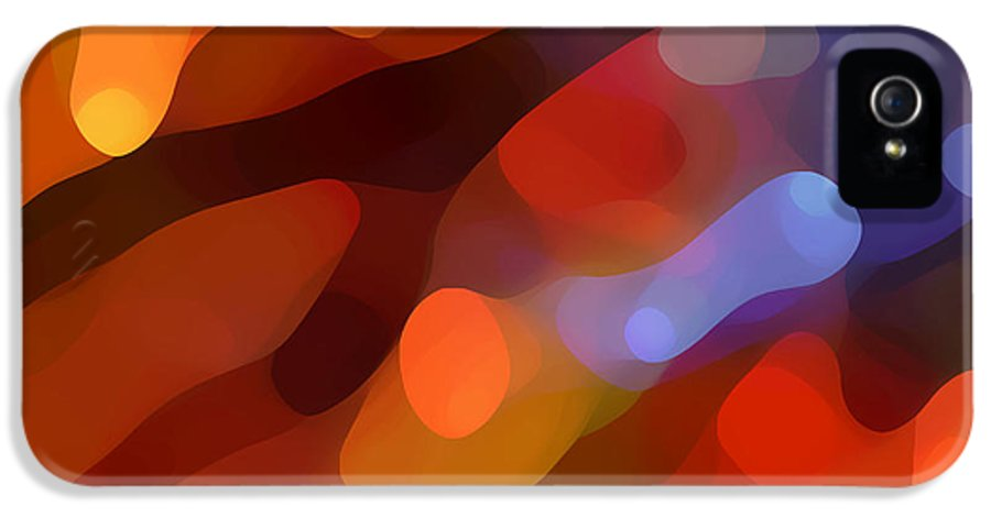 Abstract Art IPhone 5 / 5s Case featuring the painting Abstract Fall Light by Amy Vangsgard