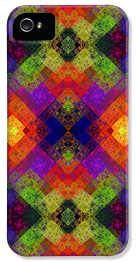 Abstract IPhone 5 / 5s Case featuring the digital art Abstract - Rainbow Connection - Panel - Panorama - Horizontal by Andee Design