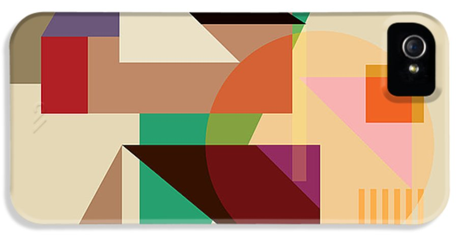 Logo IPhone 5 / 5s Case featuring the digital art Abstract Shapes #4 by Gary Grayson