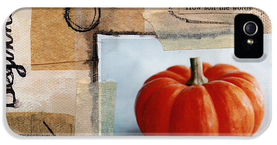 Pumpkin IPhone 5 / 5s Case featuring the painting Abundance by Linda Woods