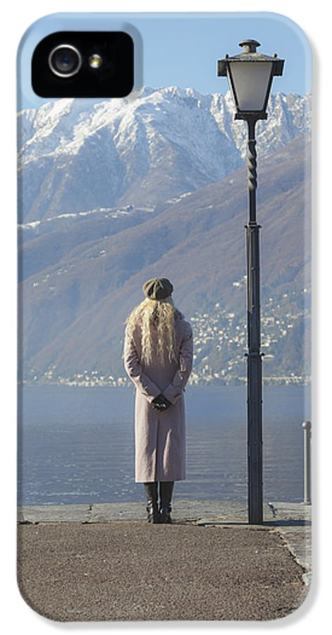 Girl IPhone 5 / 5s Case featuring the photograph Admiring The Mountains by Joana Kruse
