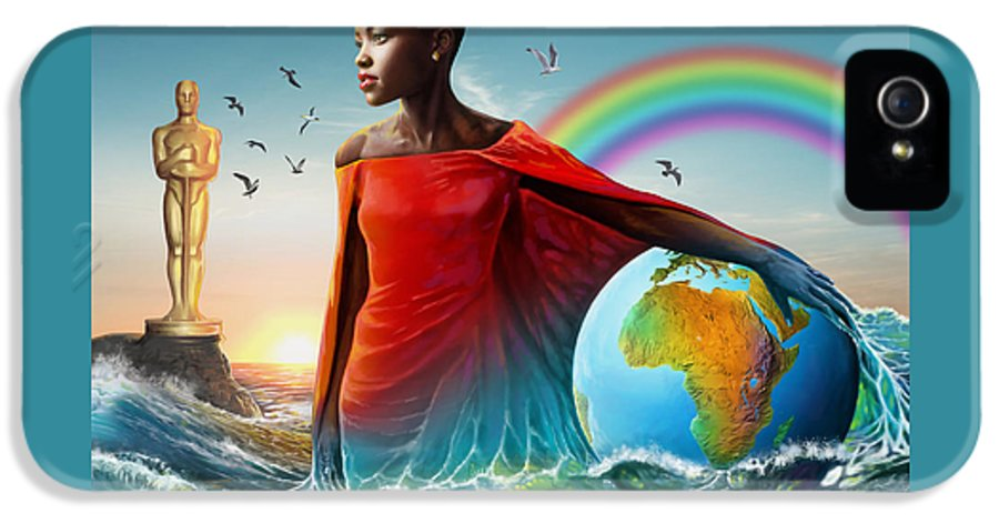 Lupita IPhone 5 / 5s Case featuring the painting The Lupita Tsunami by Anthony Mwangi