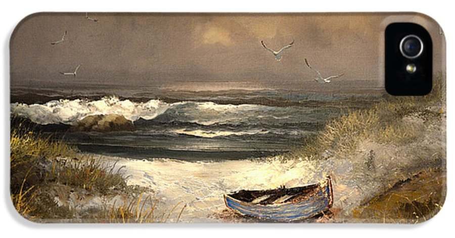 Seascape IPhone 5 / 5s Case featuring the painting After The Storm Passed by Sandi OReilly
