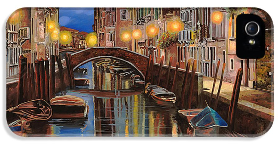 Venice IPhone 5 / 5s Case featuring the painting alba a Venezia by Guido Borelli