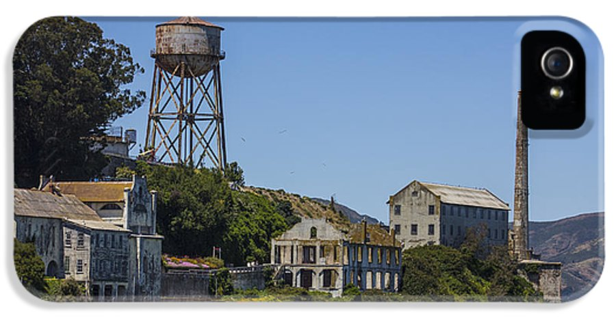 Alcatraz IPhone 5 / 5s Case featuring the photograph Alcatraz Dock And Water Tower by John McGraw
