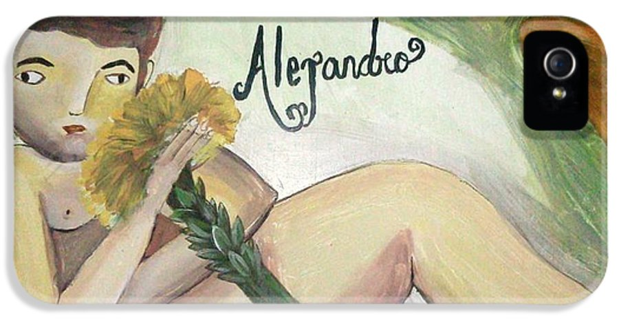 Vickie IPhone 5 / 5s Case featuring the painting Alejandro by Vickie Meza