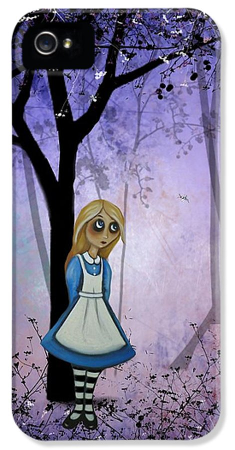 Alice In Wonderland IPhone 5 / 5s Case featuring the digital art Alice In An Enchanted Forest by Charlene Murray Zatloukal