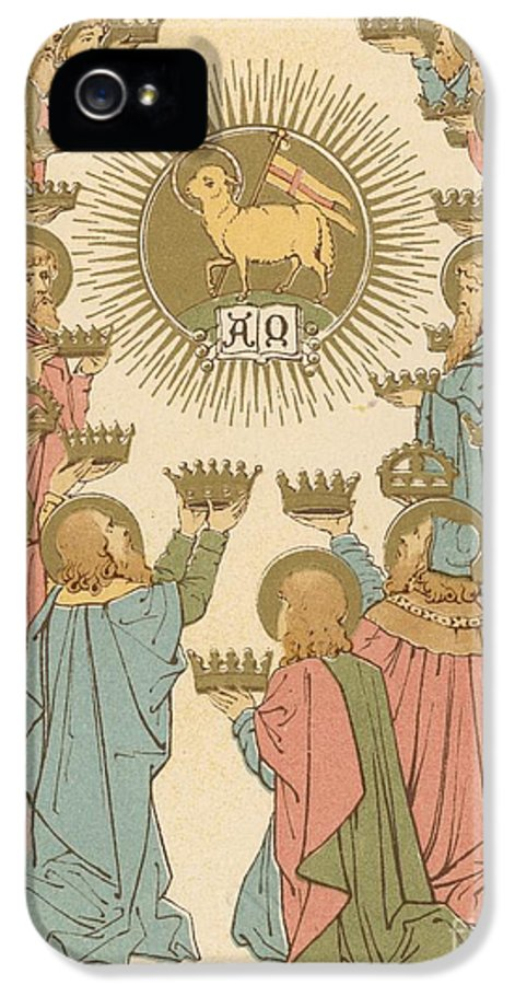 Saint IPhone 5 / 5s Case featuring the painting All Saints by English School