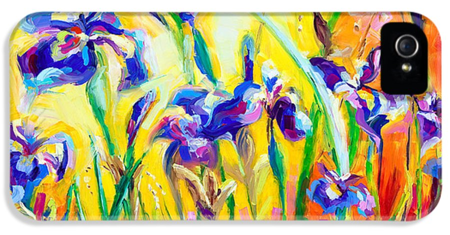 Irises IPhone 5 / 5s Case featuring the painting Alpha And Omega by Talya Johnson