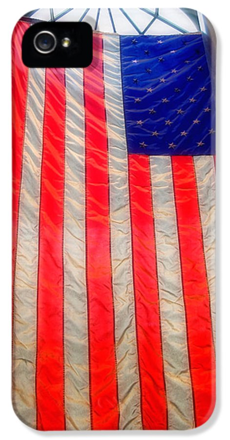 American Flag IPhone 5 / 5s Case featuring the photograph American Flag by Joann Vitali