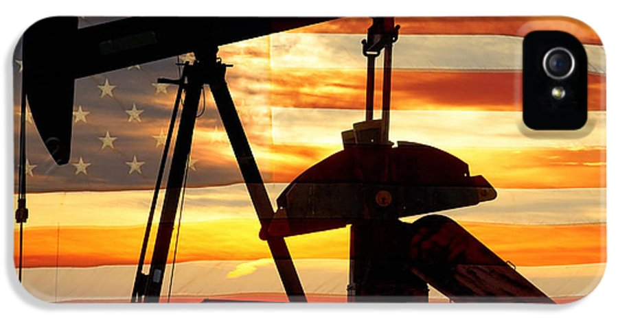 Oil IPhone 5 / 5s Case featuring the photograph American Oil by James BO Insogna