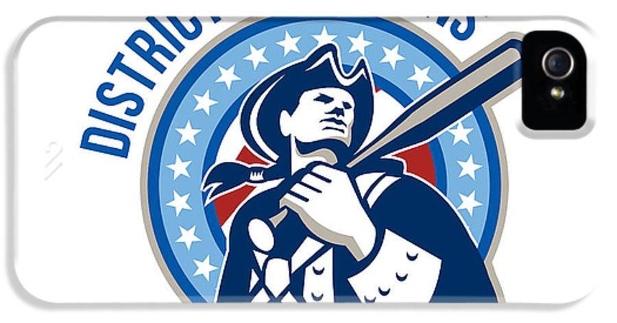 American IPhone 5 / 5s Case featuring the digital art American Patriot Baseball District Champions by Aloysius Patrimonio