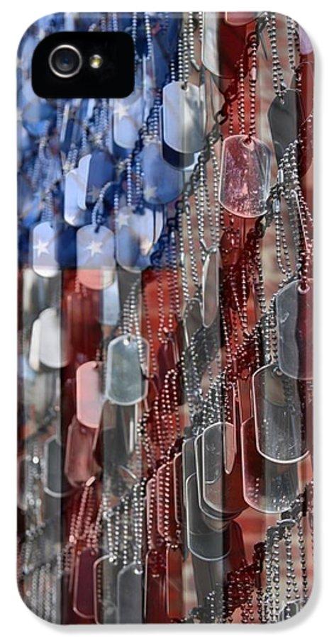 Patriotic IPhone 5 / 5s Case featuring the photograph American Sacrifice by DJ Florek