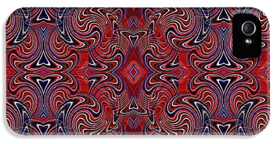 Americana Swirl Banner 1 IPhone 5 / 5s Case featuring the digital art Americana Swirl Banner 1 by Sarah Loft