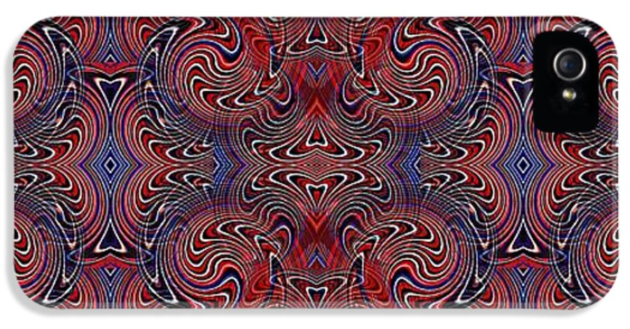Americana Swirl Banner 3 IPhone 5 / 5s Case featuring the digital art Americana Swirl Banner 3 by Sarah Loft