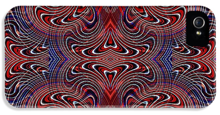 Americana Swirl Design 2 IPhone 5 / 5s Case featuring the digital art Americana Swirl Design 2 by Sarah Loft