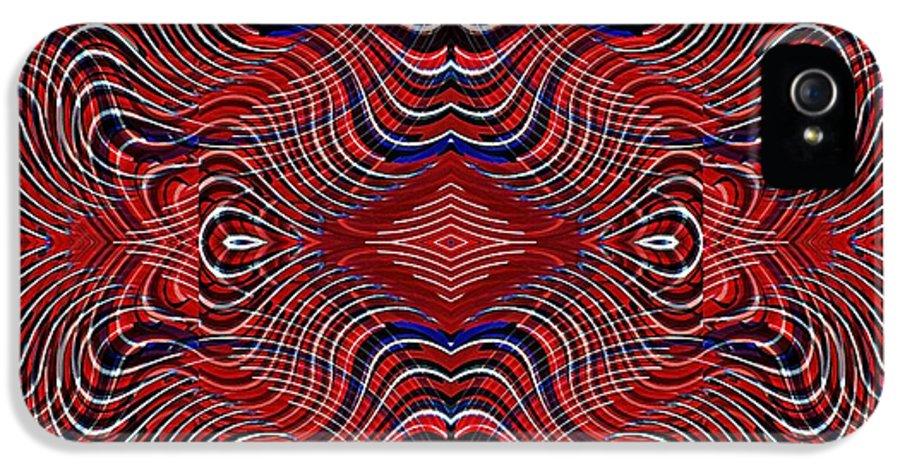 Americana IPhone 5 / 5s Case featuring the digital art Americana Swirl Design 7 by Sarah Loft