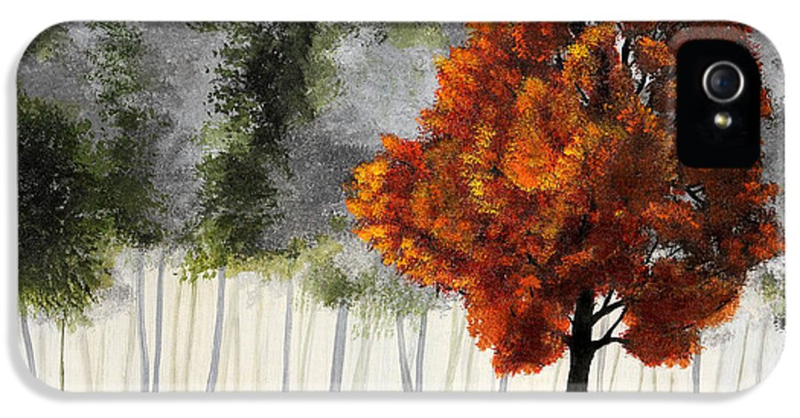 Painting IPhone 5 / 5s Case featuring the painting Among The Greens by Nirdesha Munasinghe
