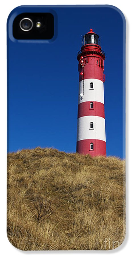 Amrum IPhone 5 / 5s Case featuring the photograph Amrum Lighthouse by Angela Doelling AD DESIGN Photo and PhotoArt