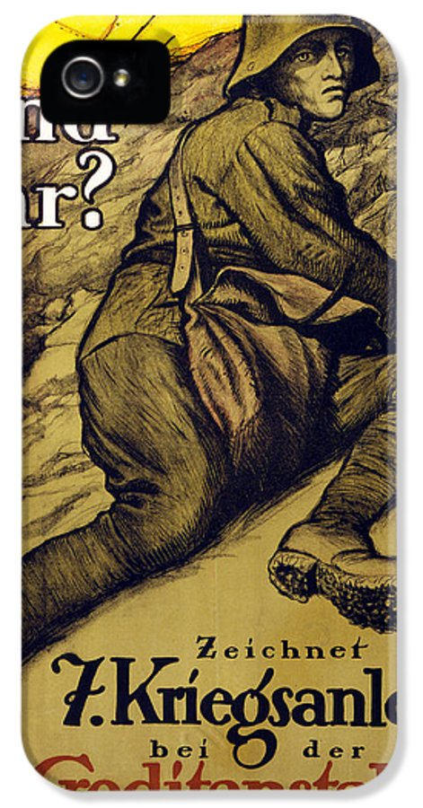 Graphic IPhone 5 / 5s Case featuring the painting And You? by Alfred Roller