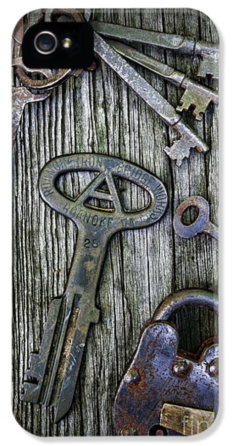 Paul Ward IPhone 5 / 5s Case featuring the photograph Antique Keys And Padlock by Paul Ward