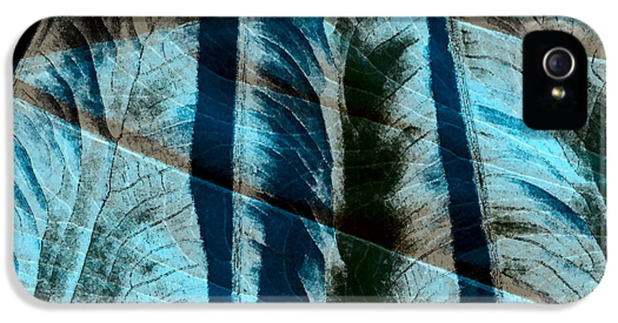 Photo Montage IPhone 5 / 5s Case featuring the photograph Aqua And Brown Leaf Montage by Bonnie Bruno