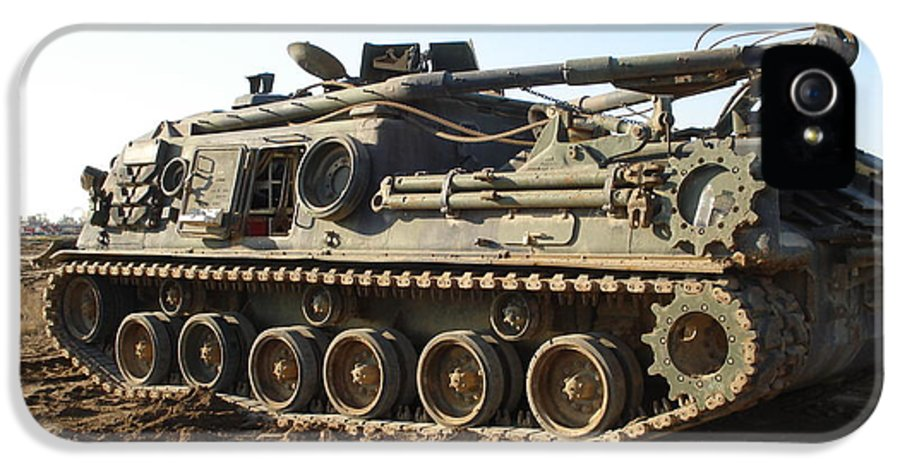 Tank IPhone 5 / 5s Case featuring the photograph Army Tank by Sharla Fossen