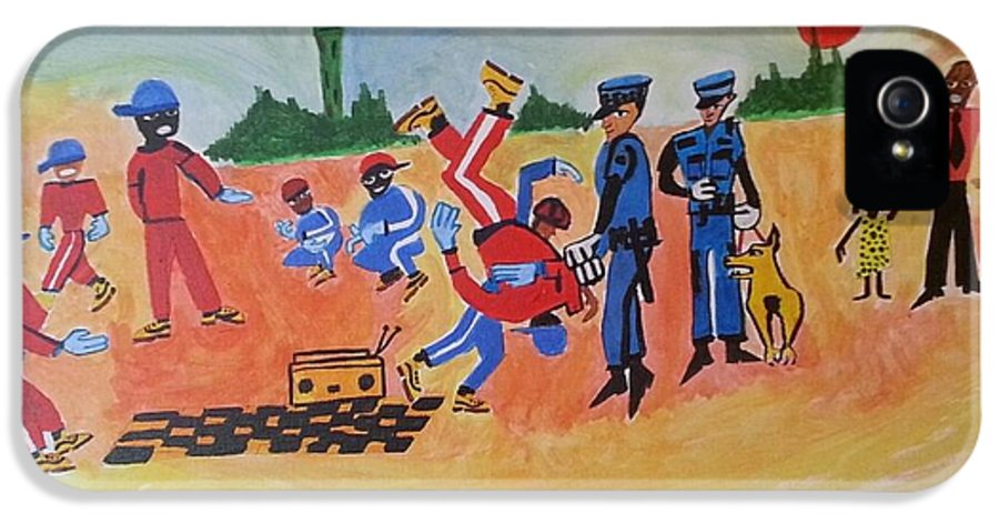Not Hating On The Police But More The Damage That So Called Authorities Have Done To My Culture.schools.the Church IPhone 5 / 5s Case featuring the painting Arrested For Breaking by Hori Kiwara