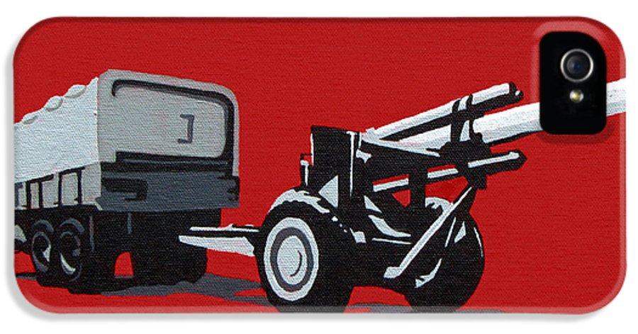 Gun IPhone 5 / 5s Case featuring the painting Artillery Gun by Slade Roberts