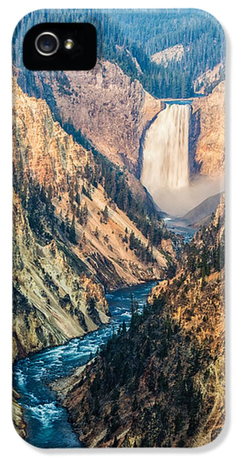 America IPhone 5 / 5s Case featuring the photograph Artist Point In Yellowstone by Andres Leon