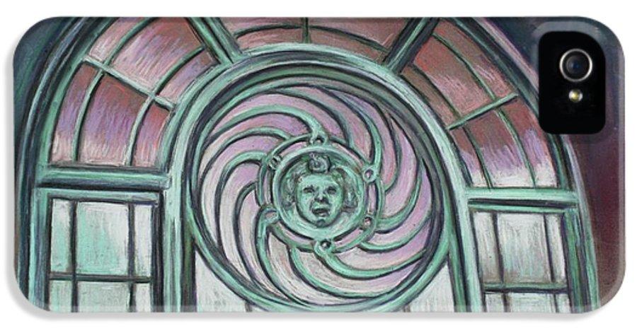 Asbury Park IPhone 5 / 5s Case featuring the painting Asbury Park Carousel Window by Melinda Saminski