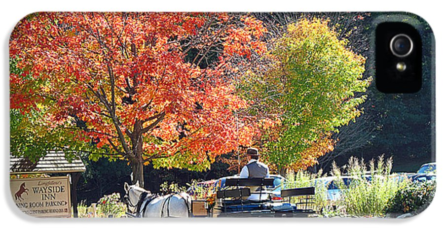 horse And Buggy.carriage Ride IPhone 5 / 5s Case featuring the photograph Autumn Carriage Ride by Barbara McDevitt