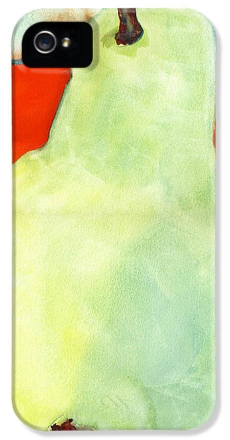 Pear IPhone 5 / 5s Case featuring the painting Avery Style Pear Art by Blenda Studio