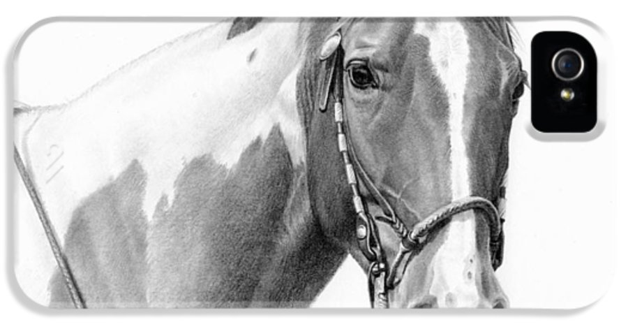 Michelle Grant IPhone 5 / 5s Case featuring the painting B And W Study by JQ Licensing