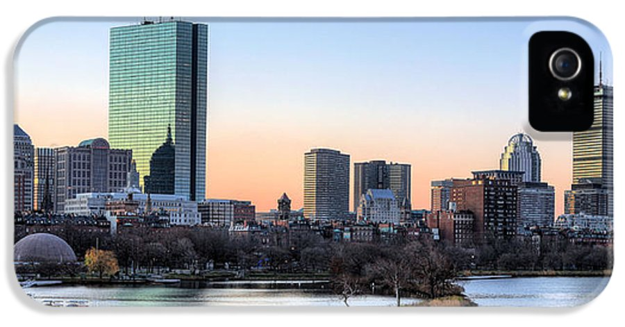 Boston IPhone 5 / 5s Case featuring the photograph Back Bay Sunrise by JC Findley