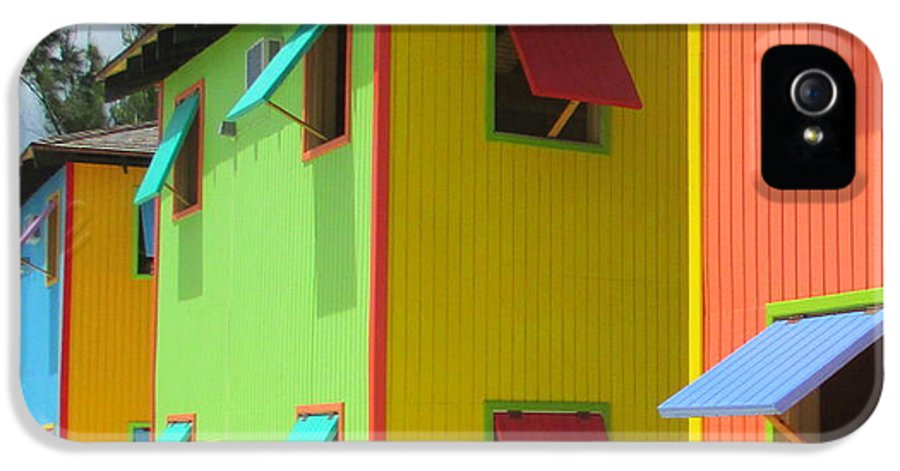 Caribbean Corner IPhone 5 / 5s Case featuring the photograph Back Of Cabins 2 by Randall Weidner