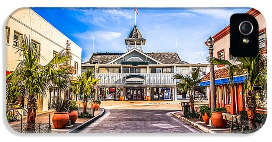 America IPhone 5 / 5s Case featuring the photograph Balboa Main Street In Newport Beach Picture by Paul Velgos