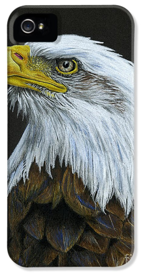 Bald Eagle IPhone 5 / 5s Case featuring the painting Bald Eagle by Sarah Batalka
