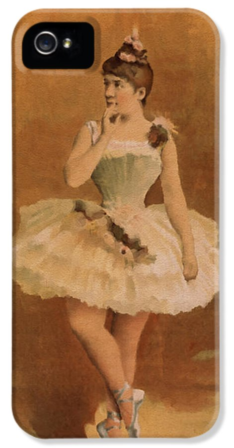 Ballet Painting IPhone 5 / 5s Case featuring the digital art Ballet by Aged Pixel