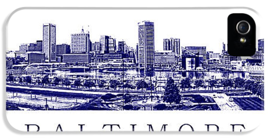 Baltimore IPhone 5 / 5s Case featuring the photograph Baltimore Blueprint by Olivier Le Queinec