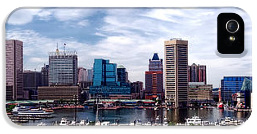 Baltimore IPhone 5 / 5s Case featuring the photograph Baltimore Skyline - Generic by Olivier Le Queinec