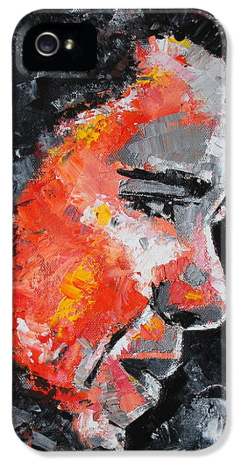Barack Obama IPhone 5 / 5s Case featuring the painting Barack Obama by Richard Day