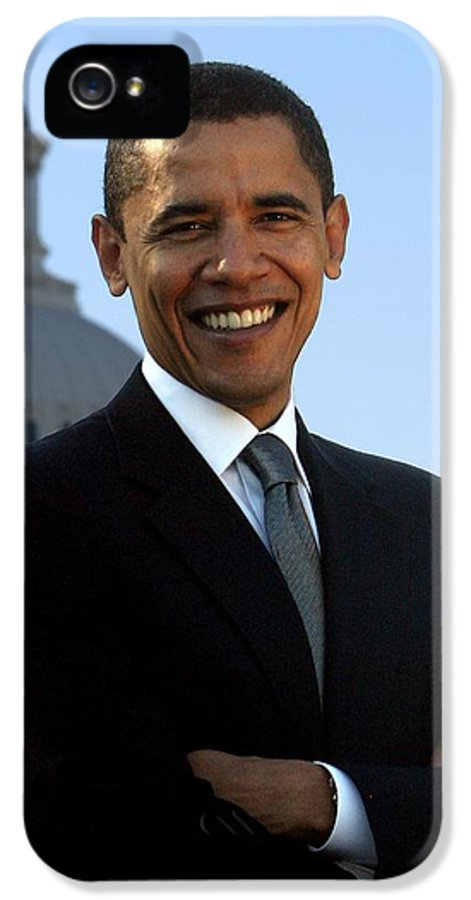 Obama IPhone 5 / 5s Case featuring the photograph Barack Obama by Tilen Hrovatic